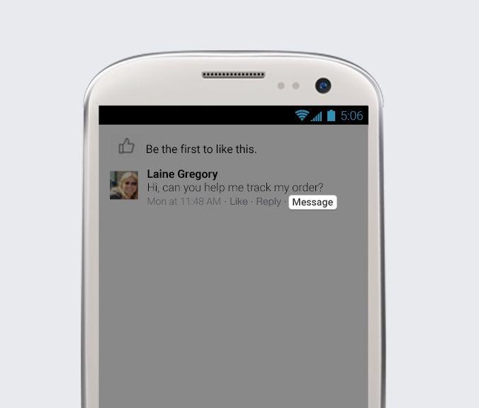 respuesta privada facebook