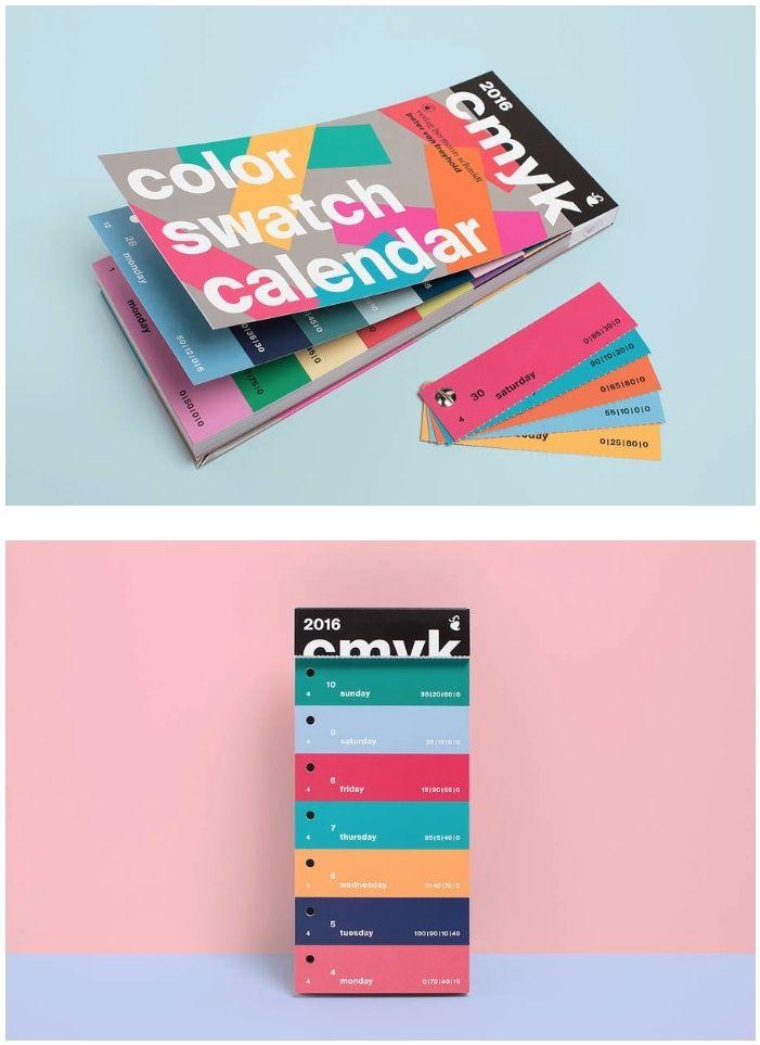CMYK Color Swatch Calendar