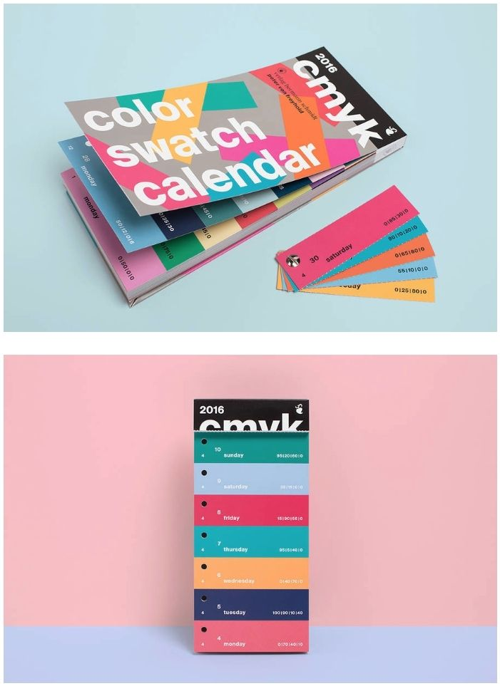 CMYK Color Swatch Calendar