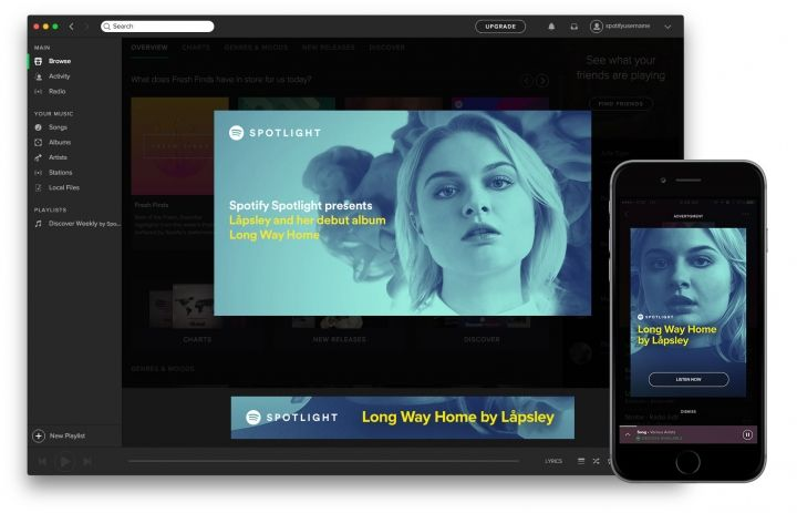 Overlay Mobile de Spotify