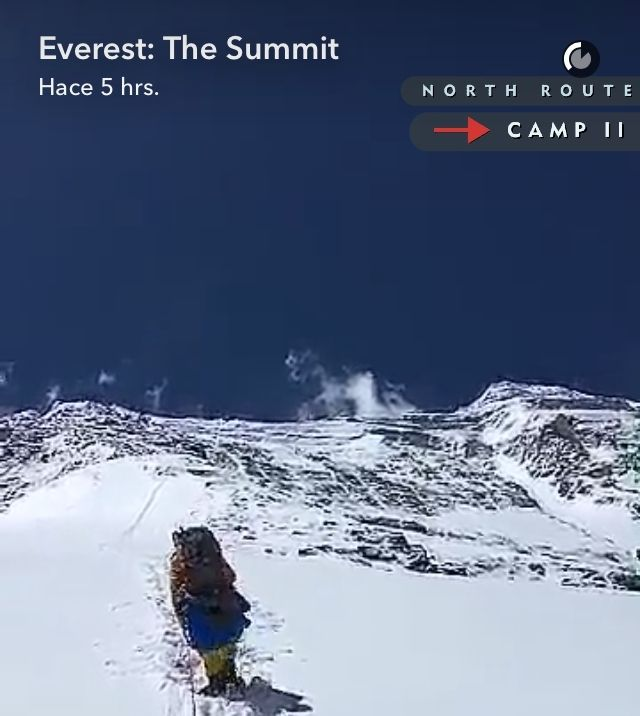 Vive la subida al Everest con Snapchat